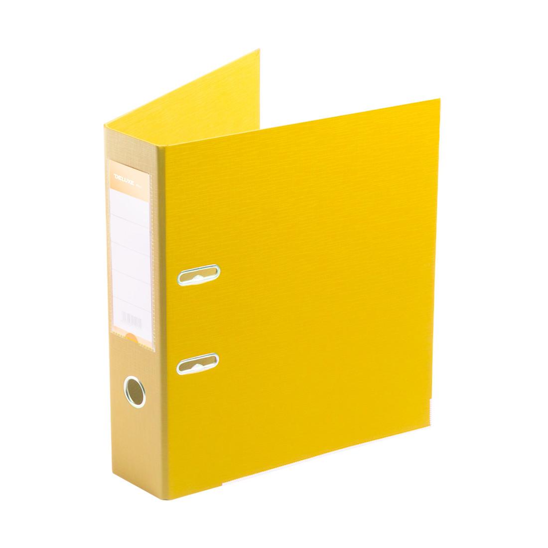 Папка–регистратор с арочным механизмом Deluxe Office 3-YW5 (70 мм, А4, Желтый)