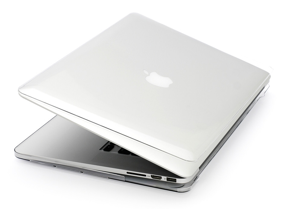 Глянцевый пластиковый чехол для MacBook Pro 13'' 2017 A1706 (прозрачный)