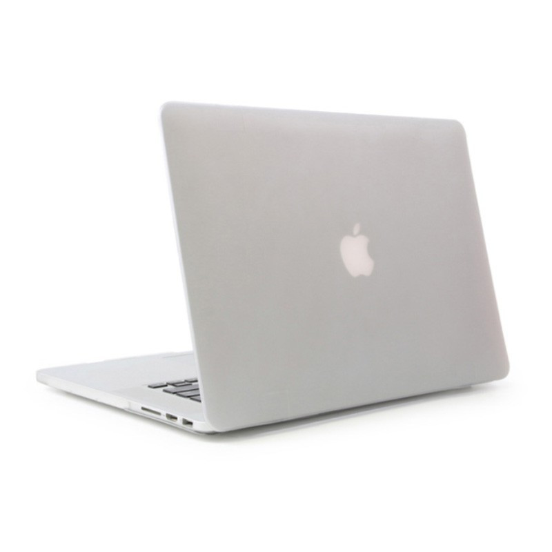 Матовый пластиковый чехол для MacBook Pro 13'' 2017 A1706 (прозрачный)