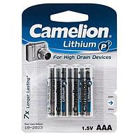 Батарейка Camelion FR03-BP4, Lithium P7, AAA, 1.5V, 1250 mAh (4 шт.)