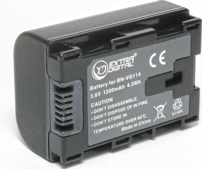 Батарейка (аккумулятор) JVC BN-VG114 (1400 mAh)