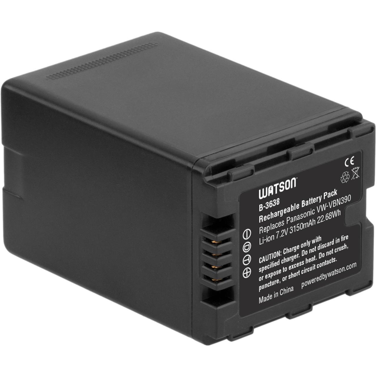Батарейка (аккумулятор) Panasonic VBN390 (4000 mAh)