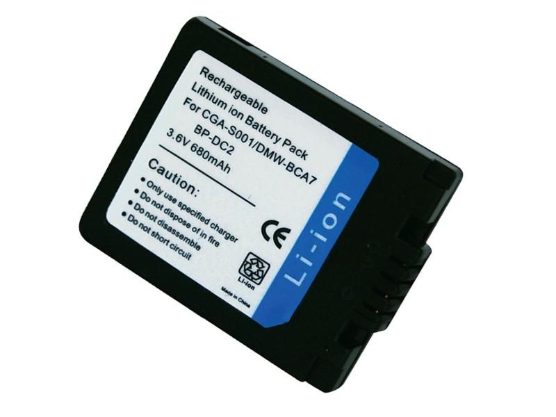 Батарейка (аккумулятор) Panasonic CGA-S001 (680 mAh)