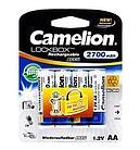 Аккумуляторная батарейка Camelion AA NH-AA2700LBP4, Lockbox перезаряжаемая, 1.2V, 2700 mAh (4 шт.)