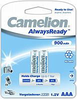 Аккумуляторная батарейка Camelion ААА NH-AAA900ARBP2, AlwaysReady Rechargeable, 1.2V, 900 mAh (2 шт.)