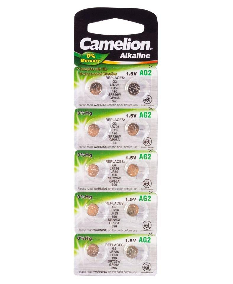 Батарейка Camelion AG2, Alkaline, 1.5V (10 шт.)