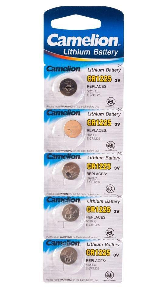 Батарейка Camelion CR1225-BP5 Lithium Battery 3V, 220 mAh (5 шт.)