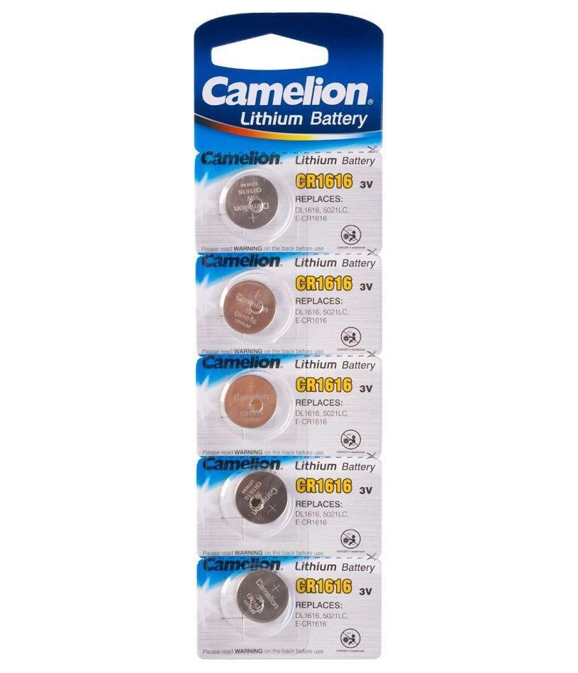 Батарейка Camelion CR1616-BP5 Lithium Battery 3V, 220 mAh (5 шт.)