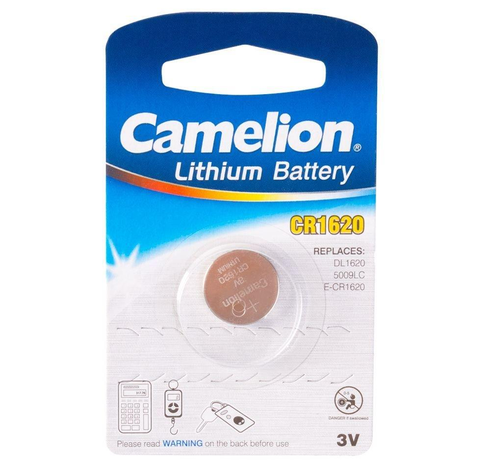 Батарейка Camelion CR1620-BP1 Lithium Battery 3V, 220 mAh (1 шт.)