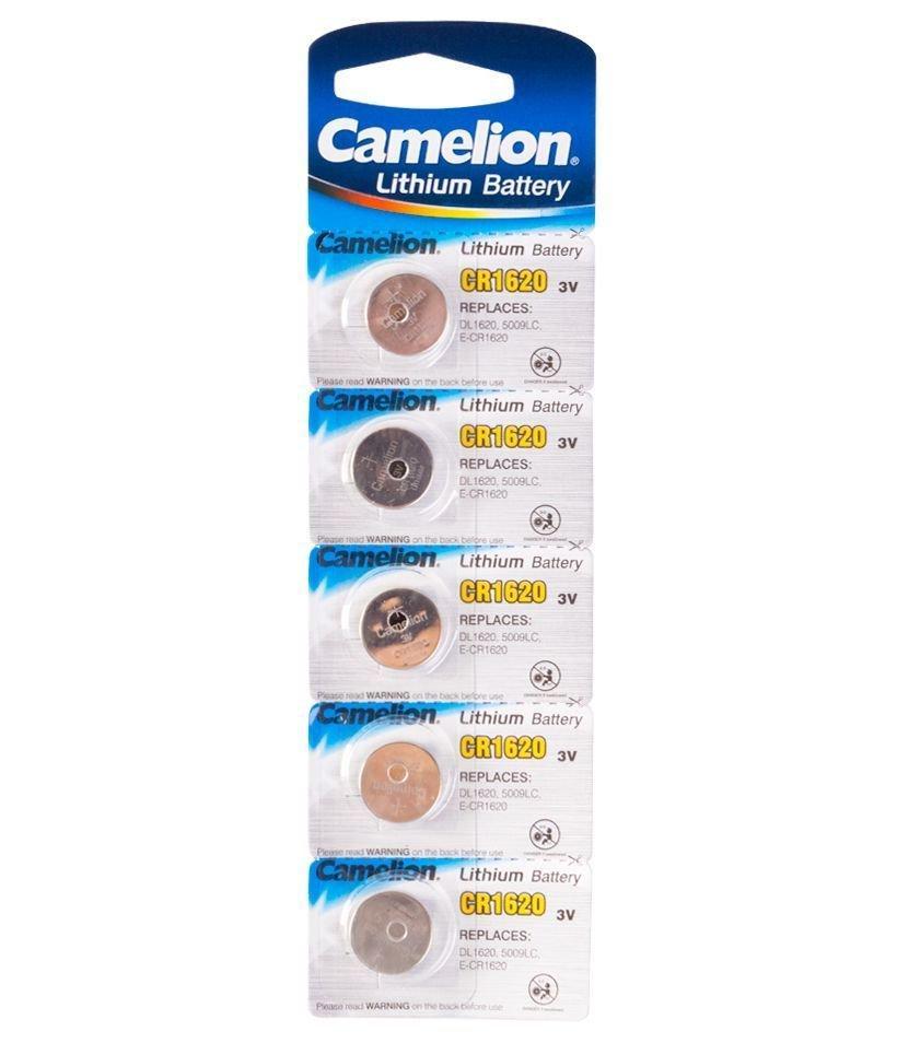 Батарейка Camelion CR1620-BP5 Lithium Battery 3V, 220 mAh (5 шт.)