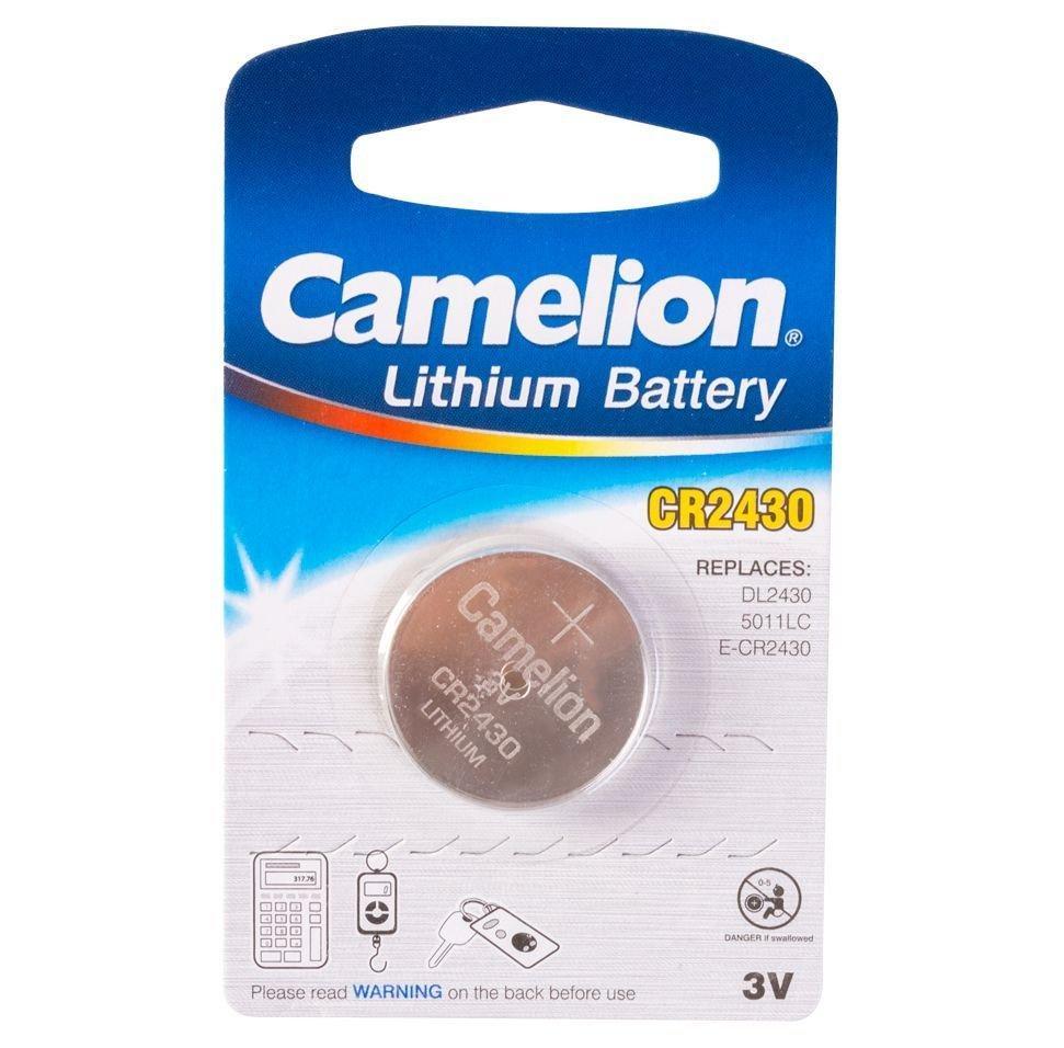 Батарейка Camelion CR2430-BP1 Lithium Battery 3V, 220 mAh (1 шт.)