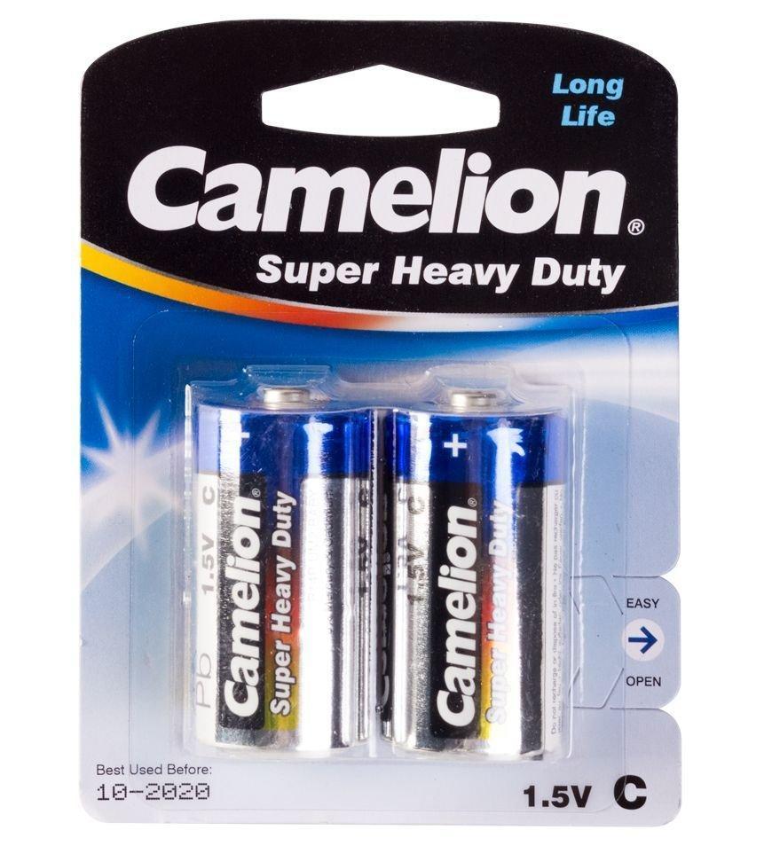 Батарейка Camelion C R14P-BP2B, Super Heavy Duty, 1.5V, mAh (2 шт.)