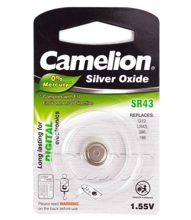 Батарейка Camelion SR43-BP1, 1.55V (1 шт.)