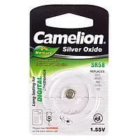 Батарейка Camelion SR58-BP1, Silver Oxide, 1.55V (1 шт.)