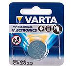 Батарейка Varta CR2025-BP1, Lithium Battery, 3V (1 шт.)