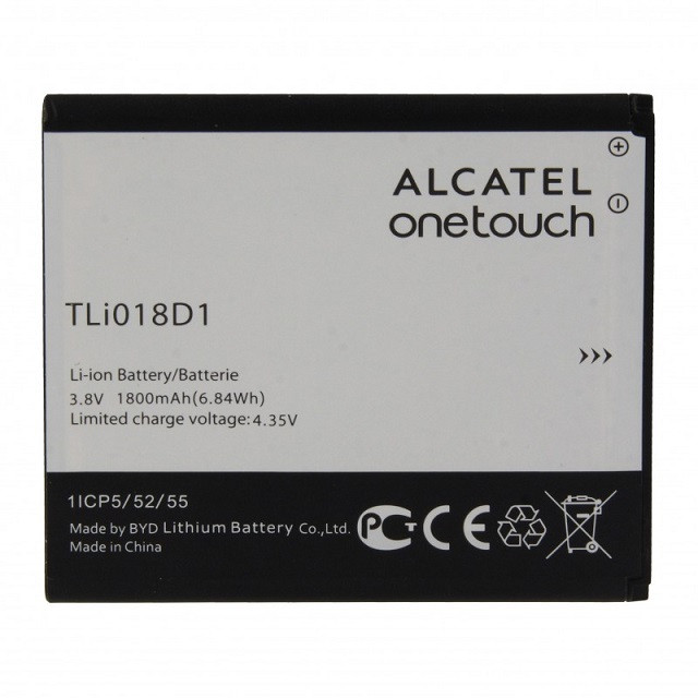 Батарея для Alcatel One Touch Pop D5 (TLi018D1 1800 mAh)