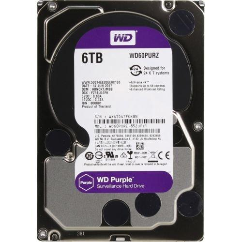 "Жесткий диск HDD 6000 Gb Western Digital SATA III (WD60PURZ) (3.5"") Purple"