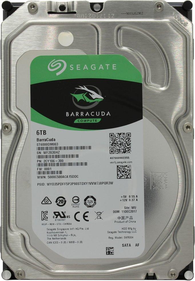 """Жесткий диск HDD 6Tb Seagate Barracuda SATA (ST6000DM003) (3,5"""")"""