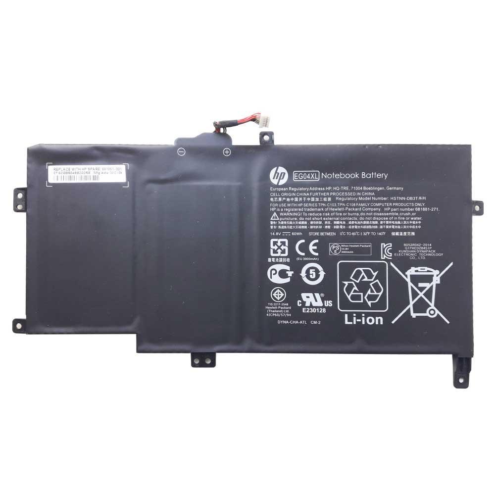 Батарея для ноутбука HP ENVY Sleekbook 6-1000, EG04XL (14.8V 3900 mAh) Original