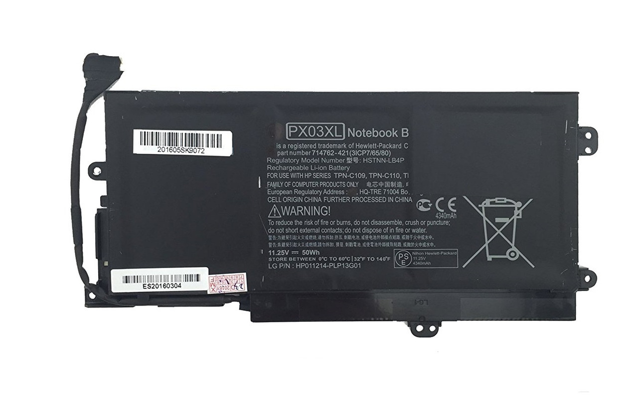 Батарея для ноутбука HP Envy 14-k, PX03XL (11.1V, 4350 mAh) Original