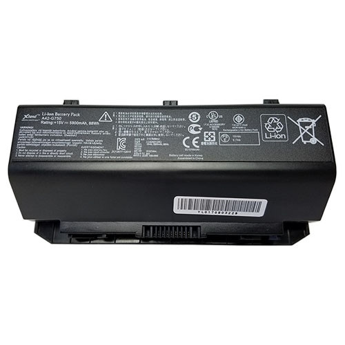 Батарея для ноутбука Asus ROG G75, A42-G75 (14.4V, 4400 mAh)