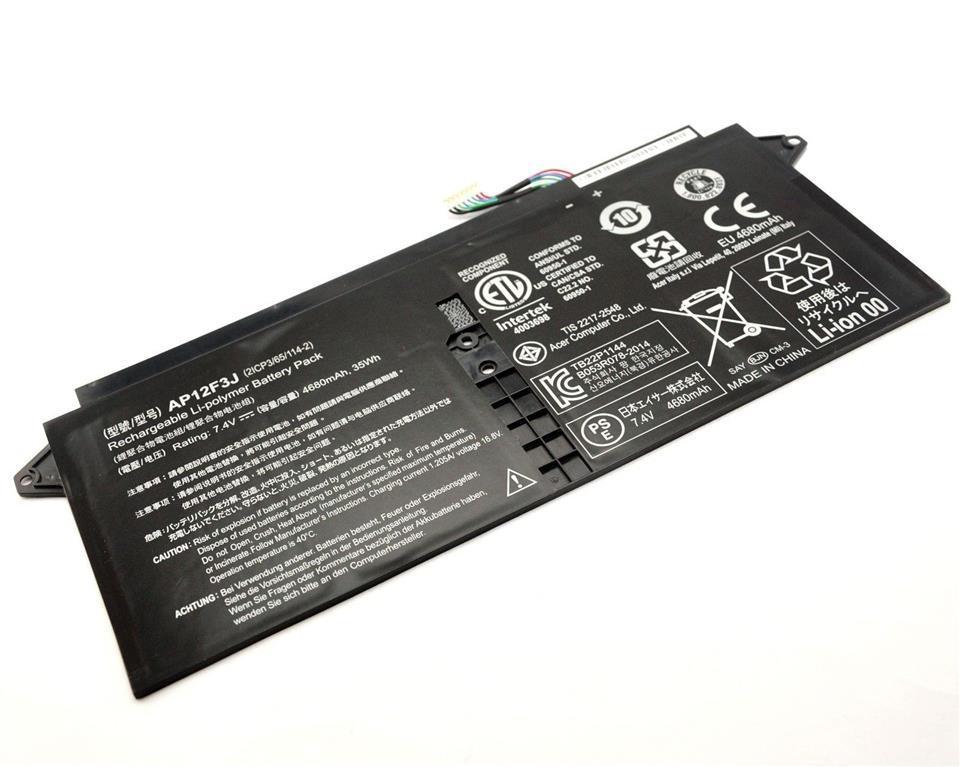 Батарея для ноутбука Acer Aspire S7-391, AP12F3J (7.4V, 4680 mAh) Original