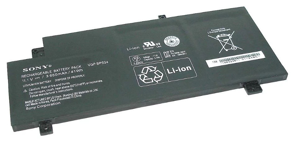 Батарея для ноутбука Sony Vaio Fit 15, SVF15a, VGP-BPS34 (11.1V, 3650 mAh) Original