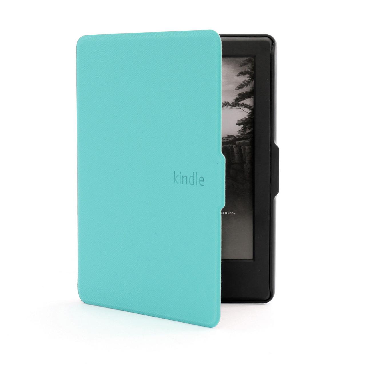 Кожаный чехол для Amazon Kindle 8 (бирюзовый)
