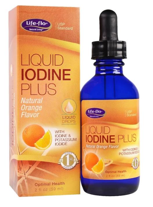 Life-flo, Жидкий йод плюс натуральный вкус апельсина, 2 жид.унции(59 мл)