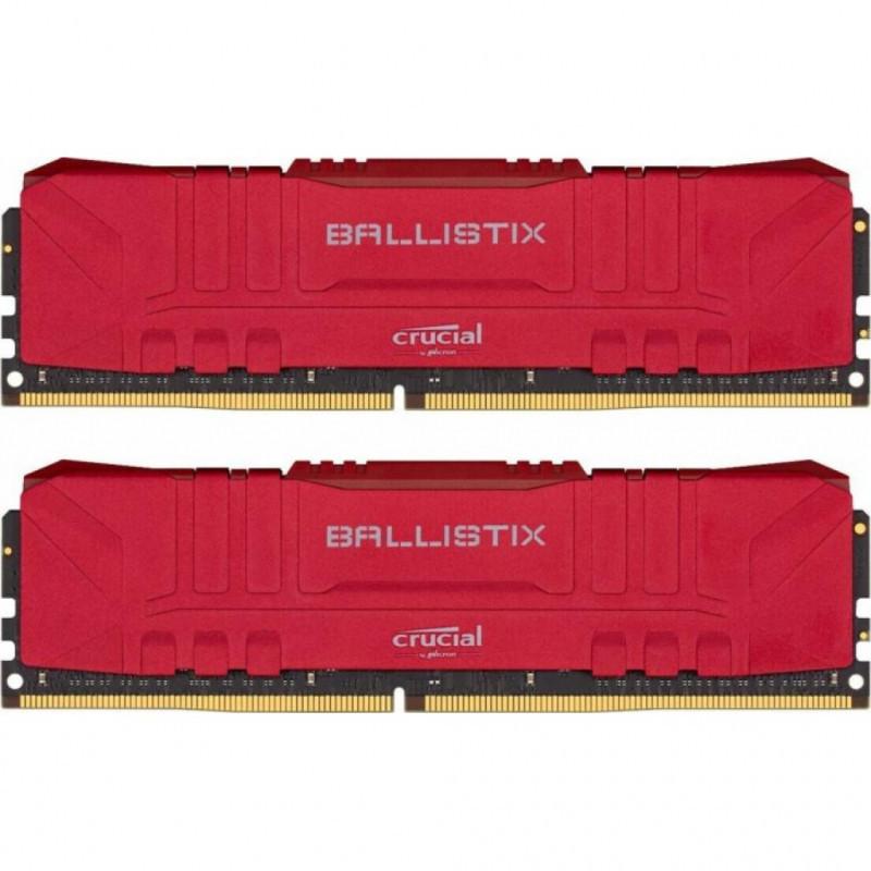 Оперативная память 16GB KIT (2x8Gb) DDR4 2666MHz Crucial Ballistix Desktop Gaming Memory Red BL2K8G26C16U4R