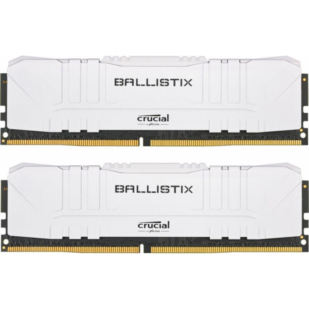 Оперативная память 16GB KIT (2x8Gb) DDR4 3200MHz Crucial Ballistix Gaming White PC4-25600 1.35V BL2K8G32C16U4W