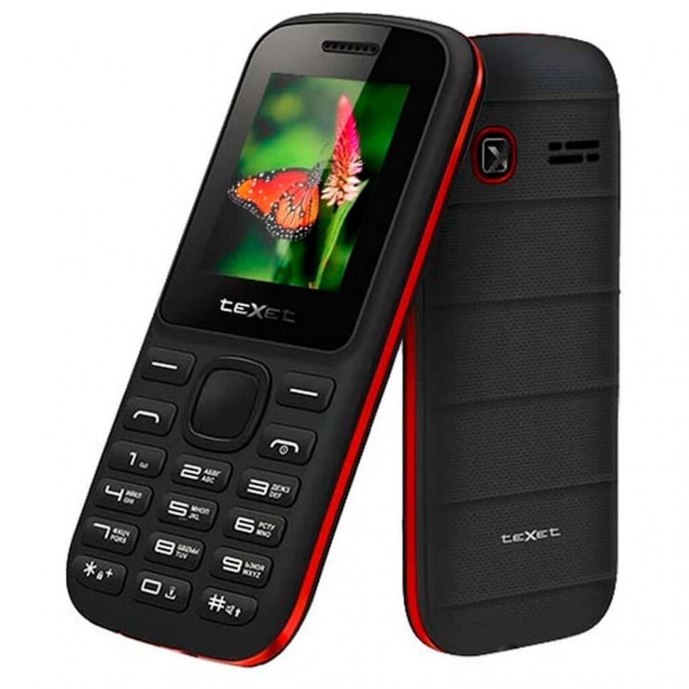 Мобильный телефон Texet TM-130 черно-красный