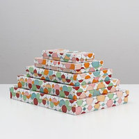 Набор коробок 5 в 1 'Бумажные фонарики', 40 х 30 х 5 - 20 х 10 х 3 см