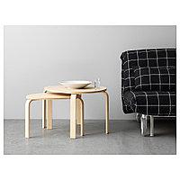 СВАЛЬСТА Комплект столов, 2 шт, березовый шпон, фото 1