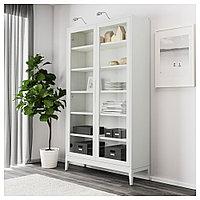 РЕЖИССЁР Шкаф-витрина, белый, 118x203 см