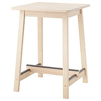НОРРОКЕР Барный стол, береза, 74x74 см, фото 1
