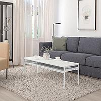 НИБОДА Журнальный стол/2-сторон столешница, светло-серый под бетон, белый, 120x40x40 см