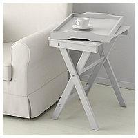 МАРЮД Стол сервировочный, серый, 58x38x58 см, фото 1
