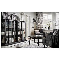 МАЛЬШЁ Шкаф-витрина, черная морилка, 103x48x141 см, фото 1