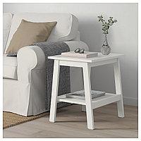 ЛУНАРП Придиванный столик, белый, 55x45 см, фото 1