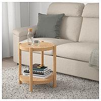 ЛИСТЕРБИ Придиванный столик, белая морилка дуб, 50 см, фото 1