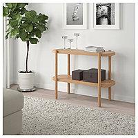 ЛИСТЕРБИ Консольный стол, белая морилка дуб, 92x38x71 см, фото 1