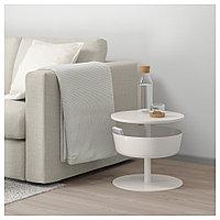 ЛИЕРСКОГЕН Столик прикроватный, белый, 42x74 см, фото 1