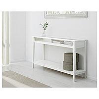 ЛИАТОРП Консольный стол, белый, стекло, 133x37 см, фото 1