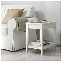 ЛИАТОРП Придиванный столик, белый, стекло, 57x40 см, фото 1