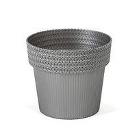 Пластиковый горшок 'Пола Джампер', диаметр 13 см, цвет серебро