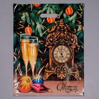 Пакет 'Карнавальная ночь', полиэтиленовый с вырубной ручкой, 38 х 47 см, 60 мкм (комплект из 50 шт.)