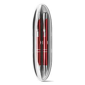 Набор из ручки и механического карандаша, BETA SET Красный