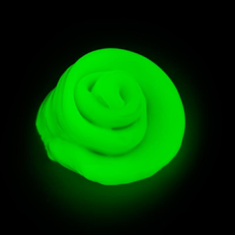 Умный пластилин светящийся в темноте PUTTY, цвет зеленый