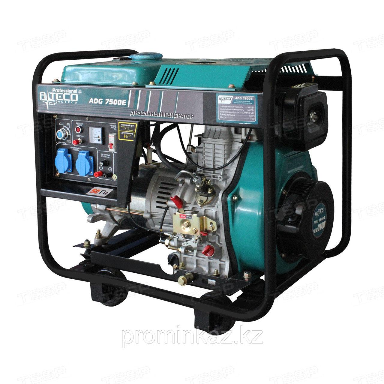 Дизельный генератор Alteco ADG-7500 E, 5кВт